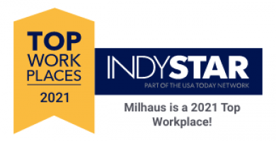 IndyStar Names Milhaus a 2021 Top Workplaces List Award Winner